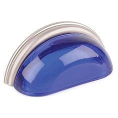 Lewis Dolin Glass Bin Pulls make a dramatic change on any cabinet or furniture piece. Small Beach Cottages, Tiny Beach House, Cobalt Glass, Condo Kitchen, Glass Knobs, Knobs And Handles, Simple Elegance, Restoration Hardware, Polished Nickel