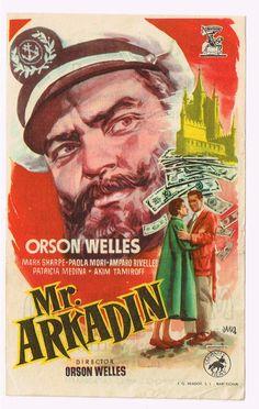 """El Acorazado Cinéfilo - Le Cuirassé Cinéphile: Programas de mano: """"Mr. Arkadin"""" (1955). Orson Wel..."""