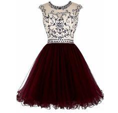 Burgundy homecoming or formal dress