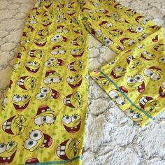 Nickelodeon Sponge Bob Squarepants Women's Large PJ Pajama Lounge Pant #Nickelodeon #DrawstringPajamaBottomsPJpantsLoungePants