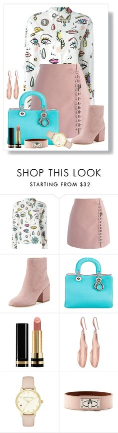 """""""Untitled #1721"""" by ebramos ❤ liked on Polyvore featuring Boutique Moschino, Chicwish, Sam Edelman, Christian Dior, Gucci, Robert Lee Morris, Kate Spade and Givenchy"""