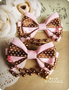 Sweetheart Square Handmade ♥ ♥ shopkeeper limited baby lolita soft sister strawberry chocolate bow on the clip - Taobao