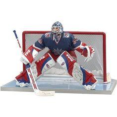d76c3a44c McFarlane Toys 6 NHL Series 13 - Henrik Lundqvist #30 New York Rangers Dark  Blue with Red White & Blue Striped Jersey