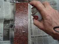 One Way to Make Miniature Bricks How to paint, seal and add mortar