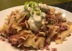 Főtt füstölt csülkös tészta tejföllel Potato Salad, Cabbage, Potatoes, Vegetables, Ethnic Recipes, Drink, Food, Beverage, Potato