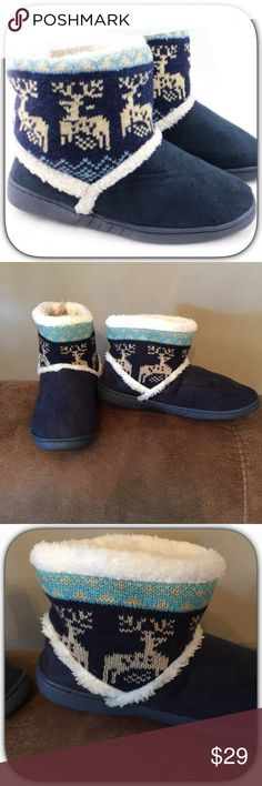NWT Faux Suede Winter Wonderland Reindeer Slippers These slippers are so comfortable! I love mine! They are all the trend and make a perfect Holiday gift! Boutique Shoes Slippers