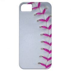 Pink Stitches Baseball / Softball iPhone 5 Covers