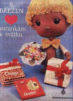 SOCÍK STYLE-Ostalgia: CS Čokolády,cukríky,žuvačky a kakao Eastern Europe, Ladies Day, Vintage Advertisements, Bratislava, Nostalgia, Advertising, Teddy Bear, Chocolate, Toys