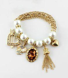 Pulsera maxi perlas cadenas