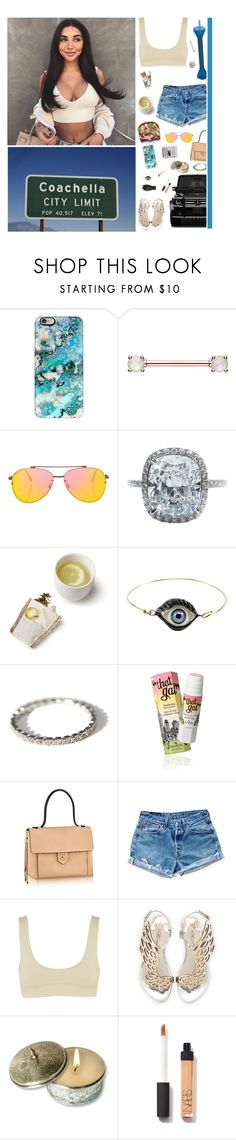 """""""4/14/17"""" by naomi-saldana ❤ liked on Polyvore featuring Mercedes-Benz, Casetify, Topshop, Harry Winston, CO, Delfina Delettrez, Iosselliani, Benefit, Levi's and Jagger"""