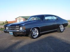 "#BecauseSS grey Chevelle 1971 Chevy Chevelle Wheels: RUSHFORTH 18"" super spoke"