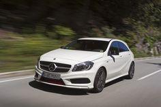 Aufruhr in der Golf-Klasse: Mercedes-Benz greift mit dem A250 Sport den Golf GTI an   http://www.vau-max.de/autoderwoche/autoderwoche_artikel/kampfstern__die_neue_mercedes_a-klasse_a250_sport/id=2809#    #GTI #mercedes #a250