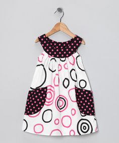 Take a look at this Pink & Black Circle Pocket Yoke Dress - Toddler & Girls by SILLY MILLY on #zulily today!
