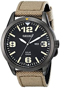 Seiko Men's SNE331 Sport Solar Analog Display Japanese Quartz Beige Watch Seiko http://www.amazon.com/dp/B00I1KW2FW/ref=cm_sw_r_pi_dp_CLuZub08N50JQ
