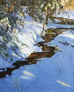 Peter Fiore Landscape Painting Winter Watercolor, Painting Gallery, Landscape Paintings, Art Painting Oil, Oil Painting Landscape, Painting, Snow Art, Winter Painting, Landscape Art