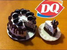 Dairy Queen Inspired Oreo Cookie Ice Cream Cake:Polymer Clay Tutorial - YouTube