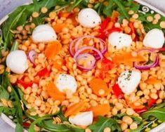 Salade lentilles, carottes et mozzarella Mozzarella, Vegetarian Recipes, Healthy Recipes, Healthy Food, Light Recipes, Fitness Diet, Cobb Salad, Tapas, Food To Make