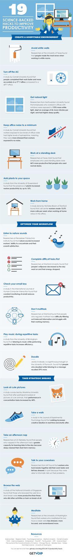 Infographic Productiviteit