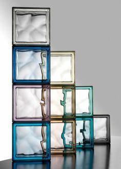 briques de verre mi transparentes