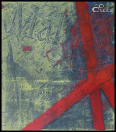 """""""Málaga III"""" J. Doña. Técnica mixta sobre tabla Dimensiones: 170 x 195 cm"""