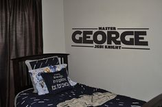 Personalized Master Jedi Knight Wall Decal Star by DazzlingDecals, $35.00
