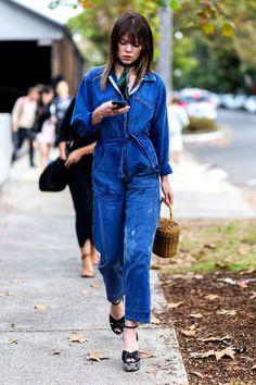 How To Add Feminine Flair To A Denim Jumpsuit by Le Fashion  #Bag, #BANGS, #BELTS, #Denim, #Feminine, #Jumpsuit, #Moda, #OMBRE, #PLATFORMS, #SANDALS, #Scarf, #SPRINGSUMMERINSPIRATION, #StreetStyle, #Trends, #UTILITARIAN