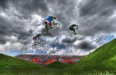 London 2012 Olympic Games Cycling BMX Men's Seeding Run.
