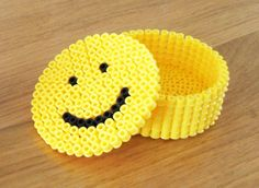Smiley box hama perler beads by famvanwijk