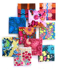 These are velveteens from Anna Maria Horner, one of my favorite textile designers.