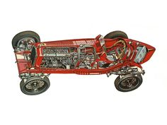 1932-1935 Alfa Romeo Tipo B (P3) - Illustration credited to Tony Matthews