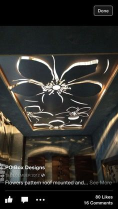 Laser cut ceiling designs
