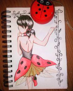 #miraculousladybug #ladybug #marinette #coccinella #acquarello