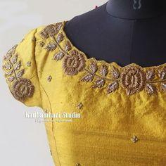 F# 01 Sahara Estates Mansoorabad Hyderabad. Stylish Dress Designs, Simple Blouse Designs, Saree Blouse Neck Designs, Stylish Blouse Design, Bridal Blouse Designs, Blouse Patterns, Simple Designs, Embroidery Suits Design, Embroidery Works