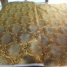 #hangzhou #silk #brocade #wave #new #color #zhejiang #china #light #coffee #back #with #gold #golden #most #popular #pattern #this #year(在 jiangkang rd 155# chenxiang fabric store)
