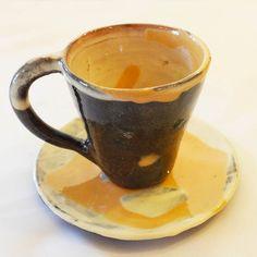 Orange Ceramic Espresso Cup and Saucer. Handmade Modern Espresso Cup, Coffee Lover, Coffee Mug, Ceramic Cup, Gift by ThomasMorleyCeramics on Etsy