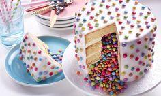 Surprise inside verjaardagstaart Recept: Voor wie niet kan kiezen tussen snoep o… Surprise inside birthday cake Recipe: For those who cannot choose between candy or cake: surpise inside birthday cake! – One of the 500 delicious Dr. Food Cakes, Cupcake Cakes, Sweet Recipes, Cake Recipes, Healthy Recipes, Nake Cake, Surprise Inside Cake, Pinata Cake, Food Humor