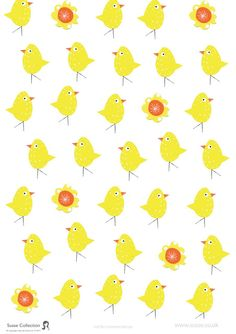 Easter Chick free printable paper at Susse Collection