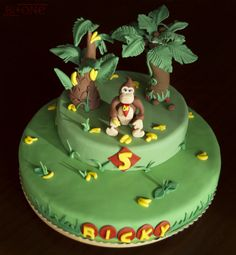 Donkey Kong Cake by bi_plus_one, via Flickr