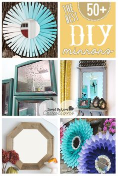50 Best DIY Mirros Upcycled Recycled and Eco Friendly Decor with Mirrors Mirror Crafts, Diy Mirror, Mirror Ideas, Shelf Ideas, Upcycled Home Decor, Diy Home Decor, Diy Gifts, Diy And Crafts, Diy Projects