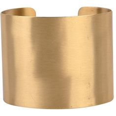 Armitage Avenue Brushed Metal Cuff (44 CAD) ❤ liked on Polyvore featuring jewelry, bracelets, accessories, bijoux, cuff, gold, cuff bracelet, cuff bangle, cuff jewelry and gold tone bracelet