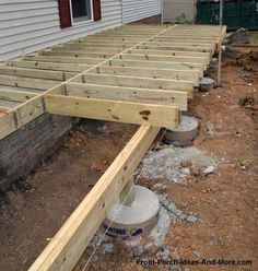 You want your porch to be on strong and solid foundation. That is vital! We have primer on what you should know about the foundation. Stop by and see us at Front Porch Ideas and Deck Plans, Shed Plans, Porch Repair, Deck Foundation, Foundation Repair, Deck Footings, Laying Decking, Outdoor Projects, Outdoor Decor