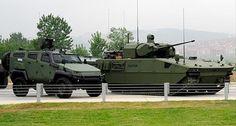 Türkiye'nin yerli yapım zırhlı aracı Tulpar. Fotoğraf: AA