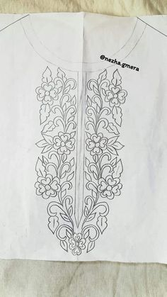 Embroidery Neck Designs, Embroidery Patterns, Cute Muslim Couples, Sketch Paper, Button Crafts, Neck Pattern, Embroidery Techniques, Floral Motif, Tapestry