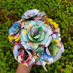 Alice in Wonderland Paper Rose Bouquet for the Disney Bride