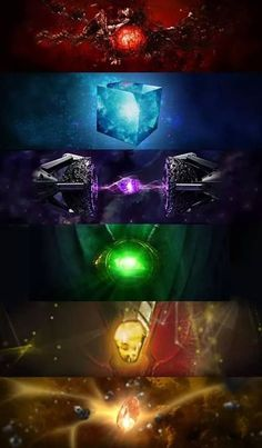 The Infinity Stones from the Marvel Cinematic Universe. Red for Reality, Blue fo. Marvel Dc Comics, Marvel Avengers, Thanos Marvel, Marvel Fanart, Marvel Films, Marvel Comic Universe, Marvel Memes, Marvel Characters, Marvel Cinematic Universe