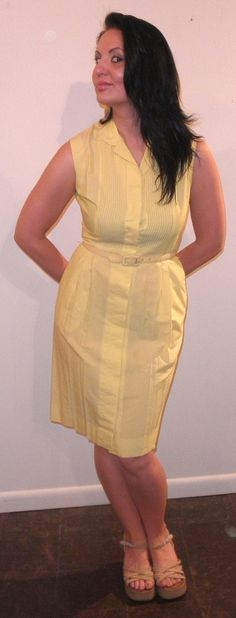 Lemon Yellow Summer Dress Jackie OMG