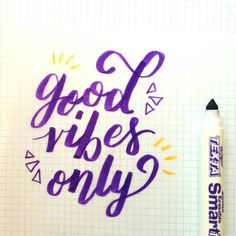 Good vibes only today! #love #life #design #typography #lettering