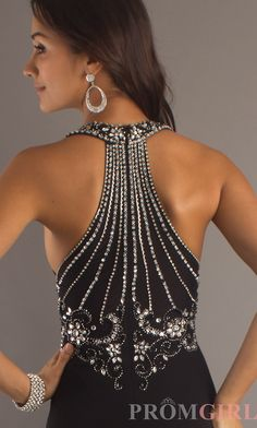 Beaded Black Evening Gown by Xscape $180.00....This is like my prom dress!!!!!!!!