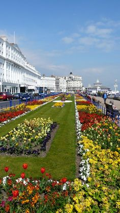 Floral gardens and hotels on Eastbourne promenade, South England British Seaside, British Isles, Beautiful World, Beautiful Places, Brighton And Hove, Brighton England, England Uk, Living In England, England And Scotland