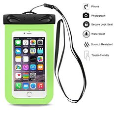 Nlife Cellphone Waterproof Case Waterproof Pouch Dry Pouch Fits iPone 6S 6S Plus Samsung Galaxy Samsung Note LG HTC Nexus Sony Nokia 7 x 4 NonToxic PVC 9 Colors with a Neck Strap >>> Check this awesome product by going to the link at the image.Note:It is affiliate link to Amazon.